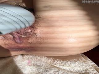 玻璃肛塞 潮吹 滴蜡 定製自慰 金属肛塞 男烧毛 弄湿白丝 撒尿 紫色肛塞(第二集)