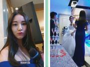 【疯狂吊炸天婚礼主持】完美身材漂亮大三学生妹纸带着跳蛋给人主持婚礼 这么玩太TM刺激了