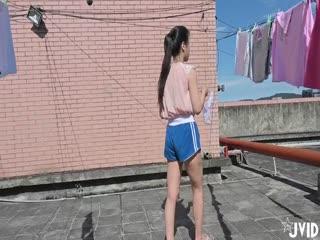 『JVID顶级剧情』邻家混血女孩顶楼晒衣被强上爆操 全裸强暴 意外绝顶高潮刺激