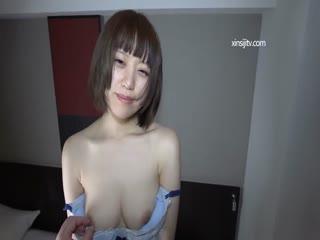 18岁清纯漂亮短发学生妹宾馆援交美乳极品无毛B粉内射中出